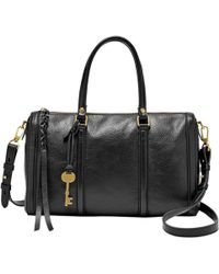 Fossil - Kendall Leather Satchel - Lyst