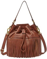 Fossil - Jules Leather Drawstring Satchel - Lyst