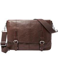 Fossil - Graham Cotton Messenger Bag - Lyst