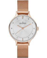 Skagen - Skw215 Women'S Anita Steel Mesh Bracelet Watch - Lyst