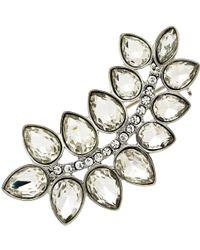 Monet - Glass Crystal Leaf Brooch - Lyst