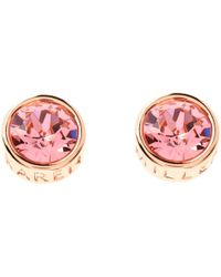 Karen Millen - Logo Stud Earrings - Lyst
