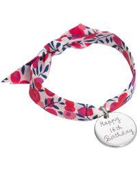 Merci Maman - Personalised Disc Liberty Bracelet - Lyst