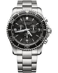 Victorinox - Men's Maverick Chronograph Date Bracelet Strap Watch - Lyst