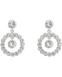 Ted Baker - Corali Concentric Swarovski Crystal Drop Earrings - Lyst