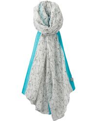 Joules - Wensley Hare Print Scarf - Lyst