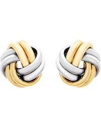 Ib&b - 9ct Gold Small Knot Stud Earrings - Lyst