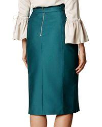 John Lewis - Karen Millen Belted Stud Pencil Skirt - Lyst
