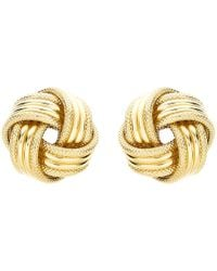 Ib&b - 9ct Gold Knot Earrings - Lyst