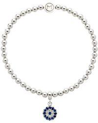 Melissa Odabash - Glass Crystal Evil Eye Bracelet - Lyst