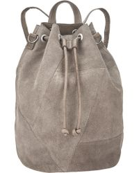 Pieces - Bianca Suede Backpack - Lyst