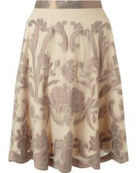 Somerset by Alice Temperley - Metallic Embroidered Skirt - Lyst