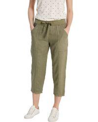 White Stuff - Faria Linen Crop Trousers - Lyst