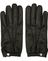 Reiss - Thornton Dents Leather Gloves - Lyst