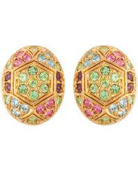 John Lewis - Susan Caplan Vintage D'orlan 22ct Gold Plated Swarovski Crystal Oval Clip-on Earrings - Lyst