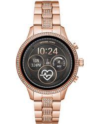 Michael Kors - Access Mkt5052 Women's Runway Bracelet Strap Crystal Smartwatch - Lyst