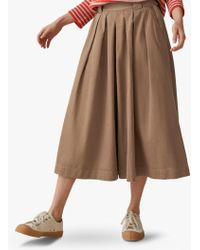 Toast - Cotton Twill Pleat Front Culottes - Lyst
