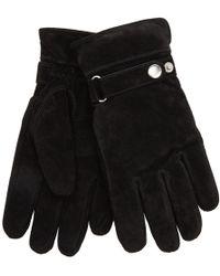 John Lewis - Adjustable Strap Suede Gloves - Lyst