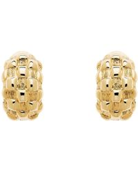 Monet - Chequer Half Moon Clip-on Earrings - Lyst