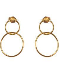 Dogeared - Karma Linked Circle Drop Earrings - Lyst
