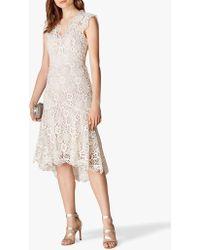 4f22f5ec240 Karen Millen Embroidered High-neck Mini Dress in Black - Lyst