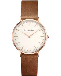 John Lewis - Rosefield Twbrr-t55 Women's The Tribeca Leather Strap Watch - Lyst