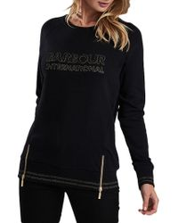 Barbour - Logo Embroidered Sweatshirt - Lyst