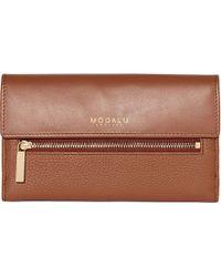 Modalu - Erin Leather Continental Wallet - Lyst
