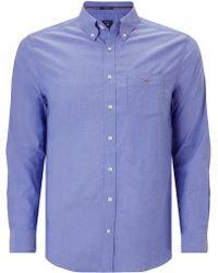 GANT - Plain Broadcloth Regular Fit Shirt - Lyst