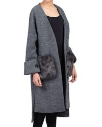 Jolie Moi - Faux Fur Pocket Padded Inner Coat - Lyst