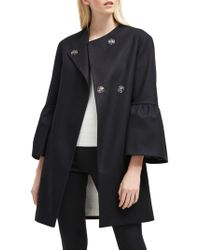 French Connection - Bell Sleeve Coat - Lyst