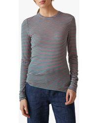 Toast - Stripe Wool Blend Jersey Top - Lyst