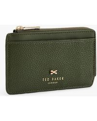 Ted Baker - Lotta Leather Zipped Coin & Card Holder - Lyst