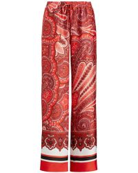 Ralph Lauren - Polo Ziakash Wide Leg Paisley Trousers - Lyst