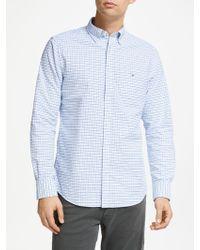 GANT - Tattersall Check Oxford Shirt - Lyst