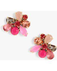 J.Crew - Bouquet Crystal Drop Earrings - Lyst