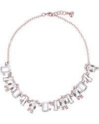 Ted Baker - Crystal Baguette Pendant Necklace - Lyst