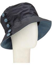Olney - Waxed Cotton Button Rain Hat - Lyst