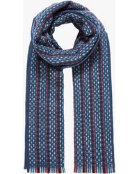Brora - Cashmere Knit Stripe Stole Scarf - Lyst