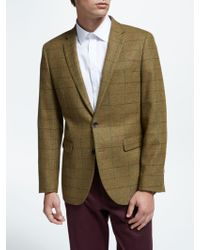 John Lewis - Woven In England Fine Check Wool Tailored Blazer - Lyst