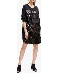 French Connection - Emilia Sequin Jersey Jumper Dress - Lyst