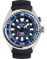 Seiko - Sun065p1 Men's Prospex Kinetic Silicone Strap Watch - Lyst