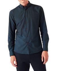 Jigsaw - Italian Slim Fit Ombre Dot Shirt - Lyst