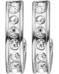 Dyrberg/Kern - Desolo Crystal Hoop Earrings - Lyst