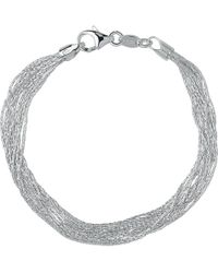Links of London - Essentials Sterling Silver Silk 10 Row Bracelet - Lyst