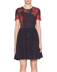 French Connection - Phoebe Crepe Lace Dress - Lyst