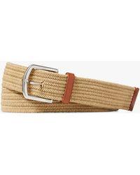 Ralph Lauren - Polo Braided Stretch Cotton Belt - Lyst