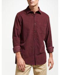 GANT - Long Sleeve Cord Shirt - Lyst