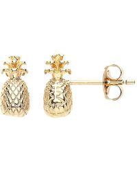 Estella Bartlett - Pineapple Stud Earrings - Lyst