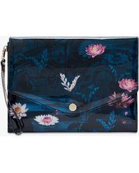 3650d3d51e65 Ted Baker Tilsley Crystal Clutch Handbag in Pink - Lyst